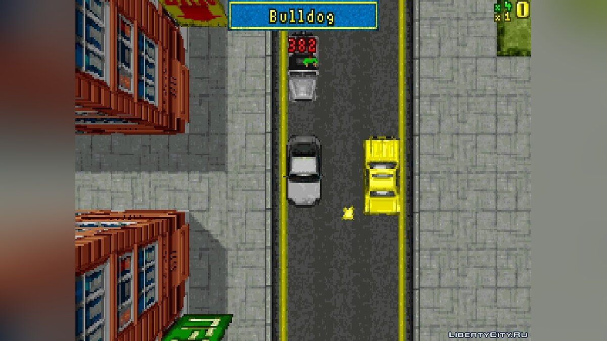 Мод Demo GTA1 (8-bit, MS-DOS) для GTA 1