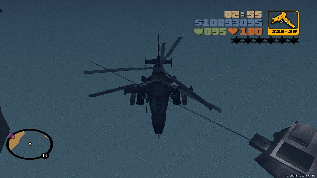 Самолет и вертолет Ка-50 для мода Aircrafts(fix) для GTA 3