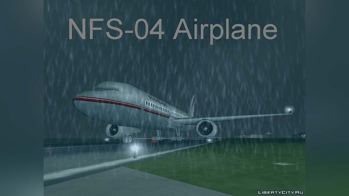 Самолет и вертолет Passenger airplane from NFS Underground 2 для GTA 3