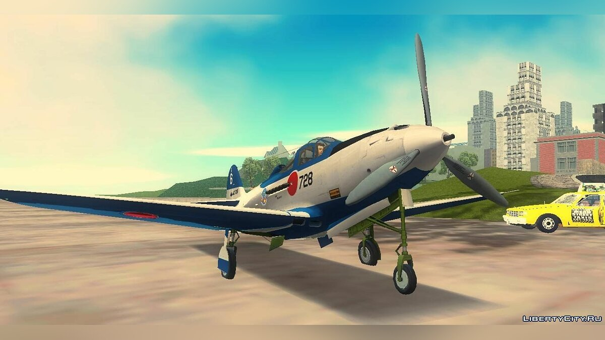 P-39N Airacobra JASDF Blue Impulse для GTA 3 - Картинка #1