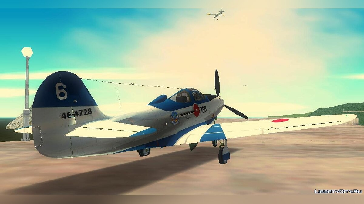 P-39N Airacobra JASDF Blue Impulse для GTA 3 - Картинка #3