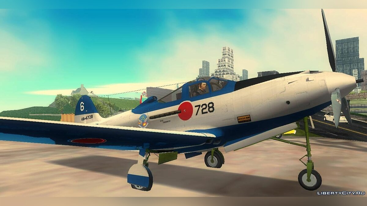 P-39N Airacobra JASDF Blue Impulse для GTA 3 - Картинка #2