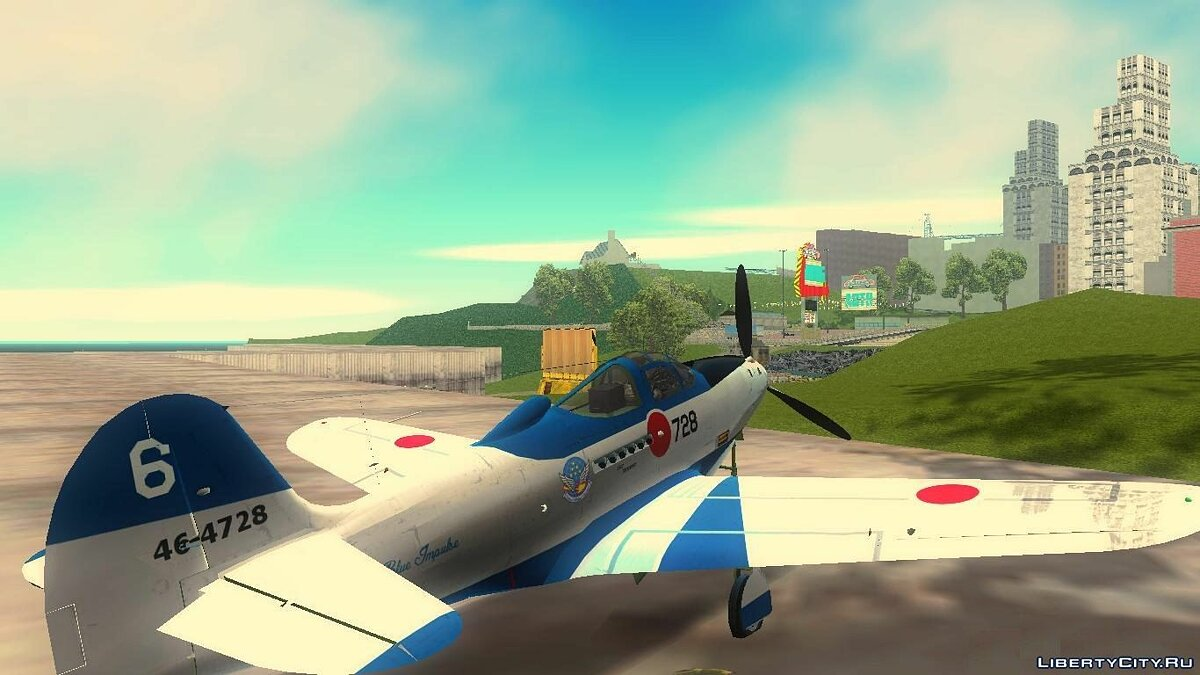 P-39N Airacobra JASDF Blue Impulse для GTA 3 - Картинка #8