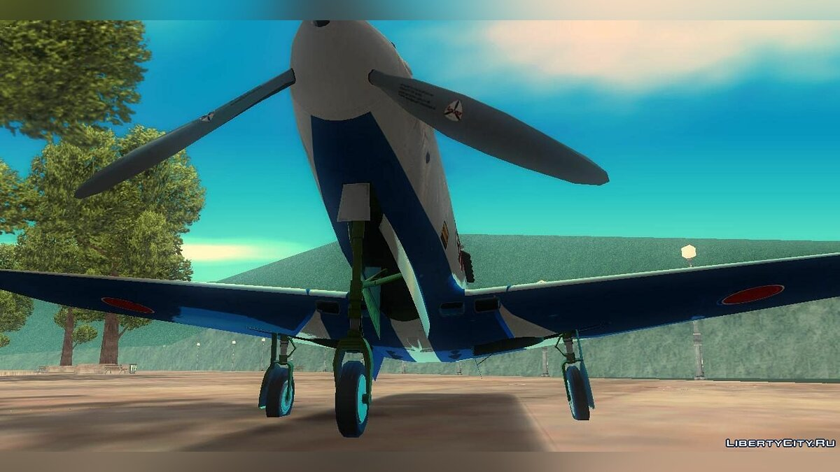 P-39N Airacobra JASDF Blue Impulse для GTA 3 - Картинка #5