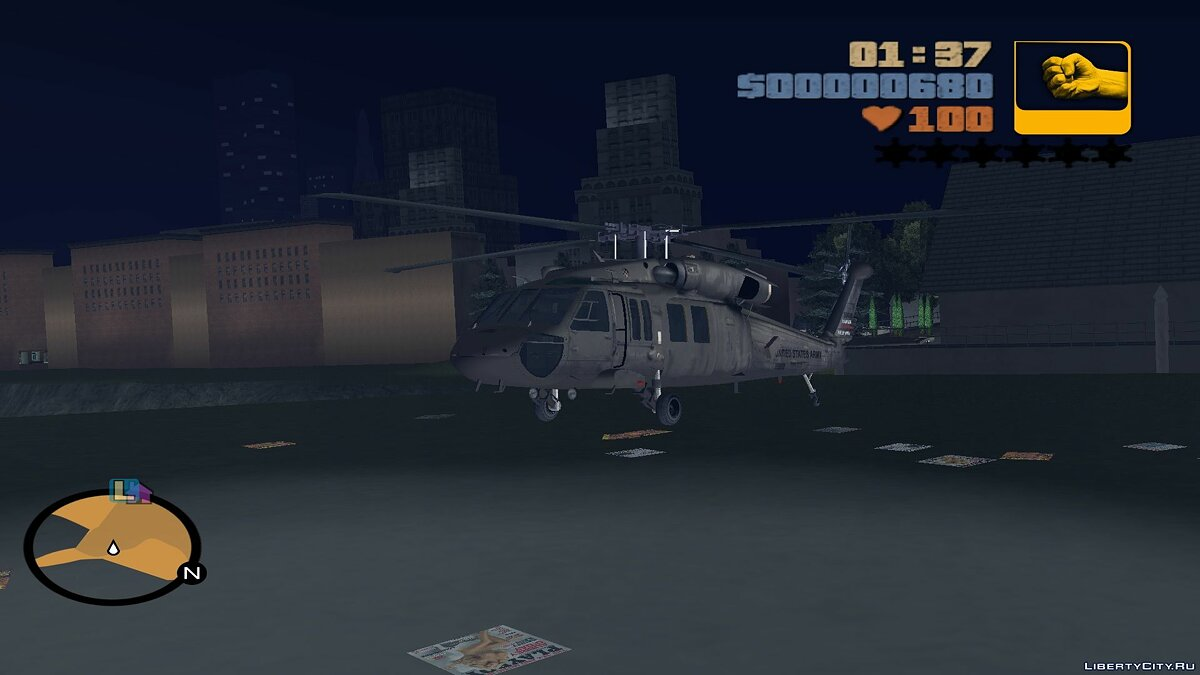 Sikorsky UH-60 Black Hawk для мода Aircraft на замену Huey для GTA 3 - Картинка #3