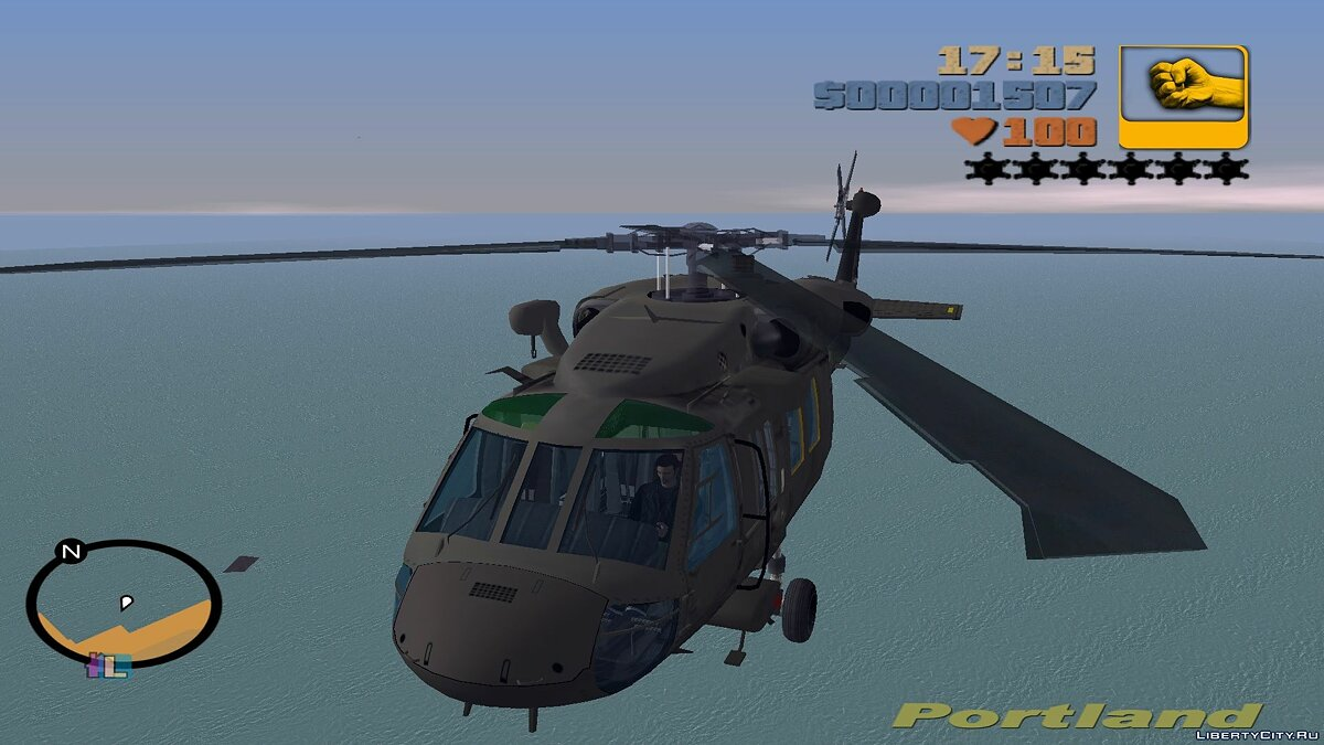 Sikorsky UH-60 Black Hawk для мода Aircraft на замену Huey для GTA 3 - Картинка #2