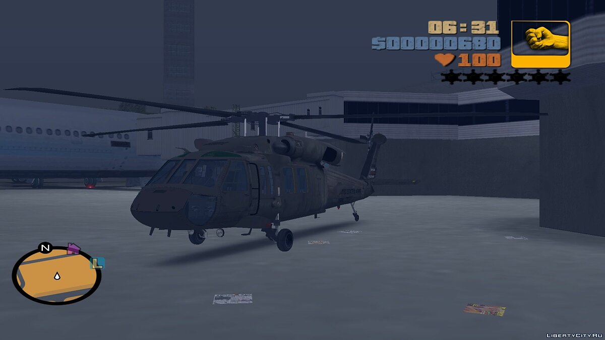 Sikorsky UH-60 Black Hawk для мода Aircraft на замену Huey для GTA 3 - Картинка #1