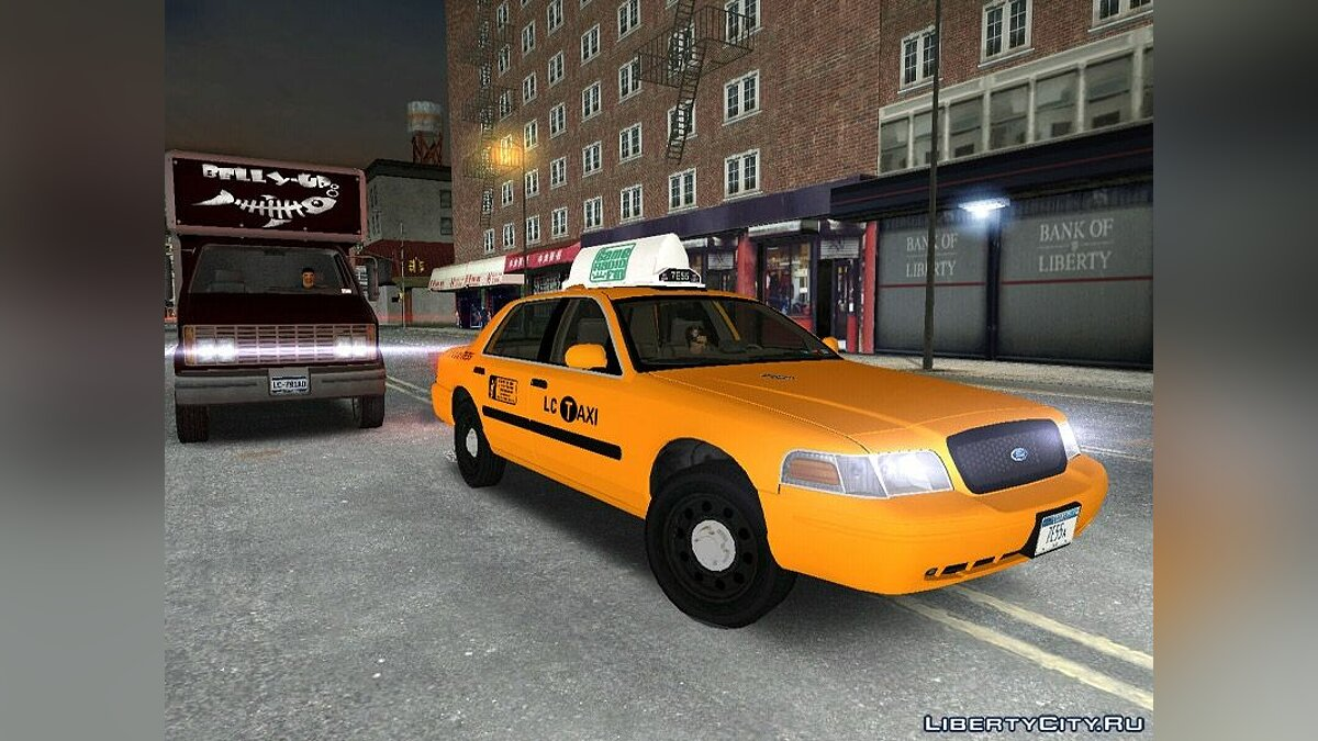 Машина Ford Crown Victoria P70 LWB Taxi для GTA 3