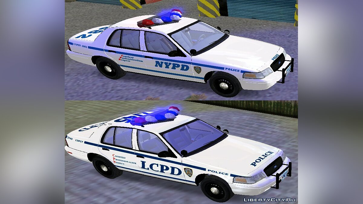 NYPD & LCPD Ford Crown Victoria для GTA 3 - Картинка #1