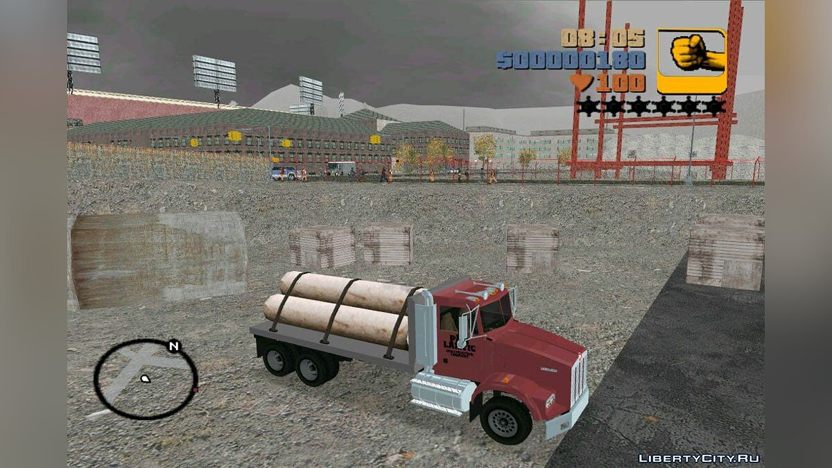 Kenworth T-800 Construction Truck для GTA 3 - скриншот #2