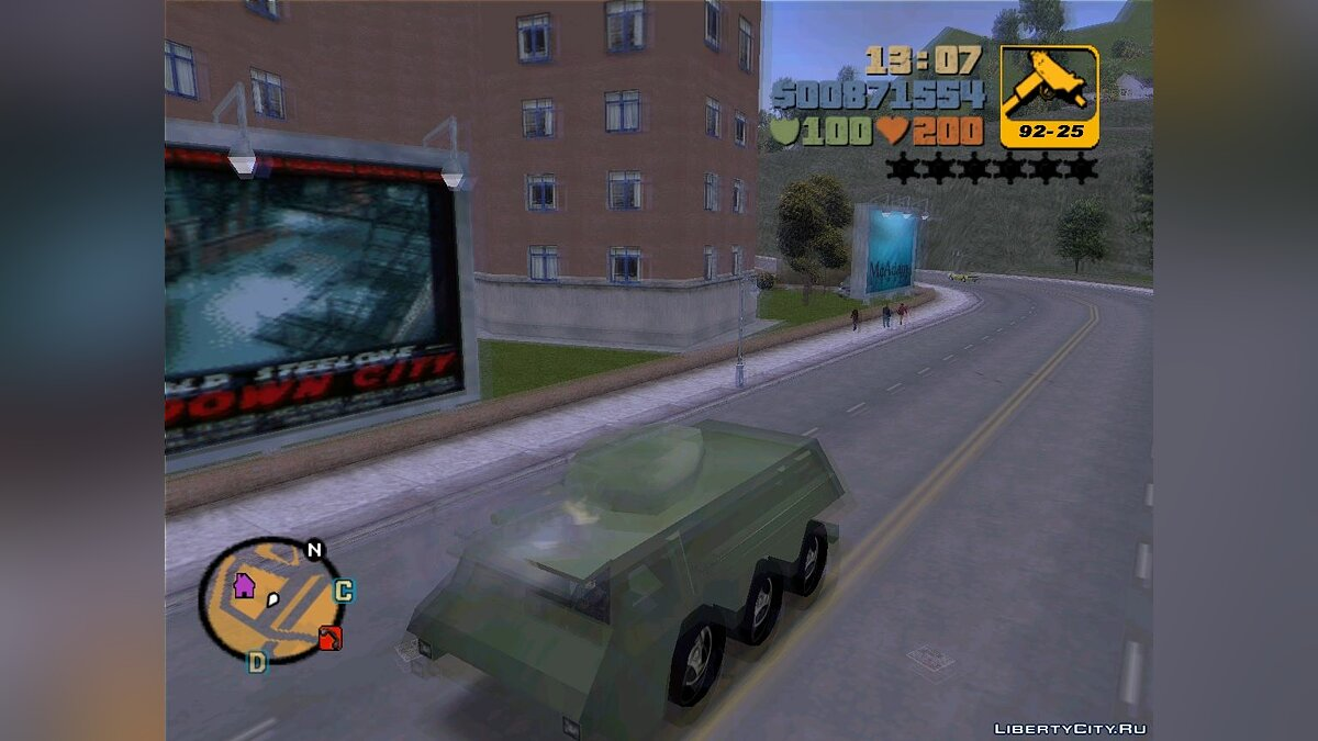 Машина Beta APC Tank From Leaked Screen для GTA 3