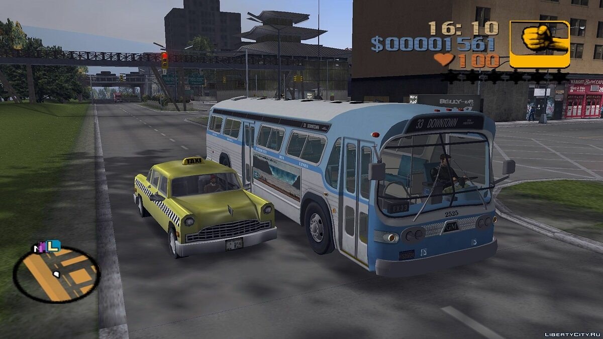Машина Автобус GM TDH-5303 Bus 1969 для GTA 3