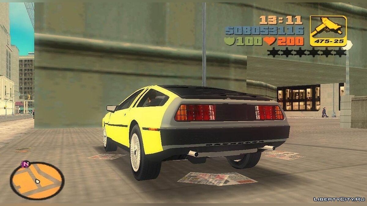Машина DeLorean DMC-12 V8 для GTA 3