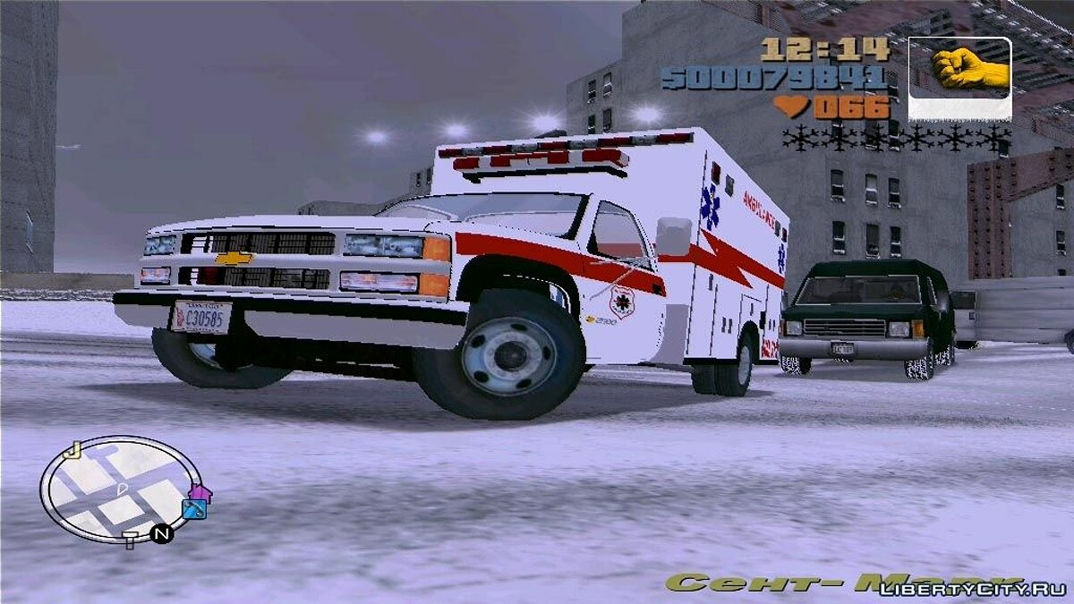Chevrolet Silverado 2500 Ambulance для GTA 3 - Картинка #1