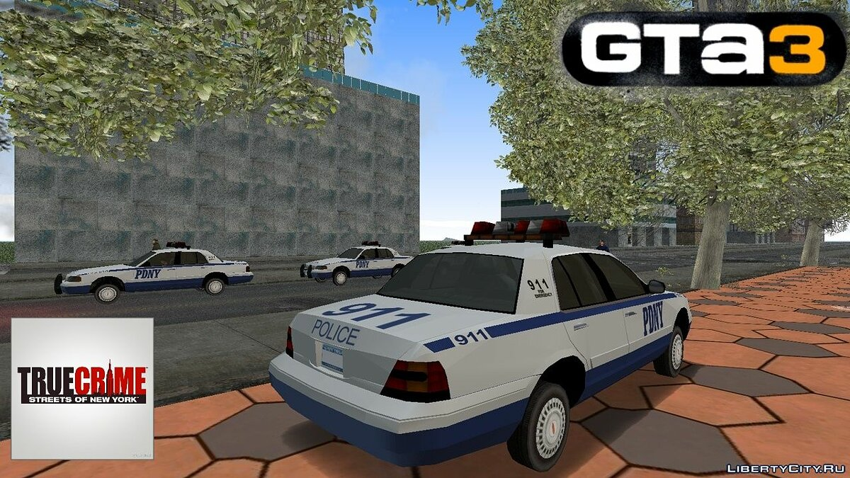 Машина Police from True Crime: New York City для GTA 3
