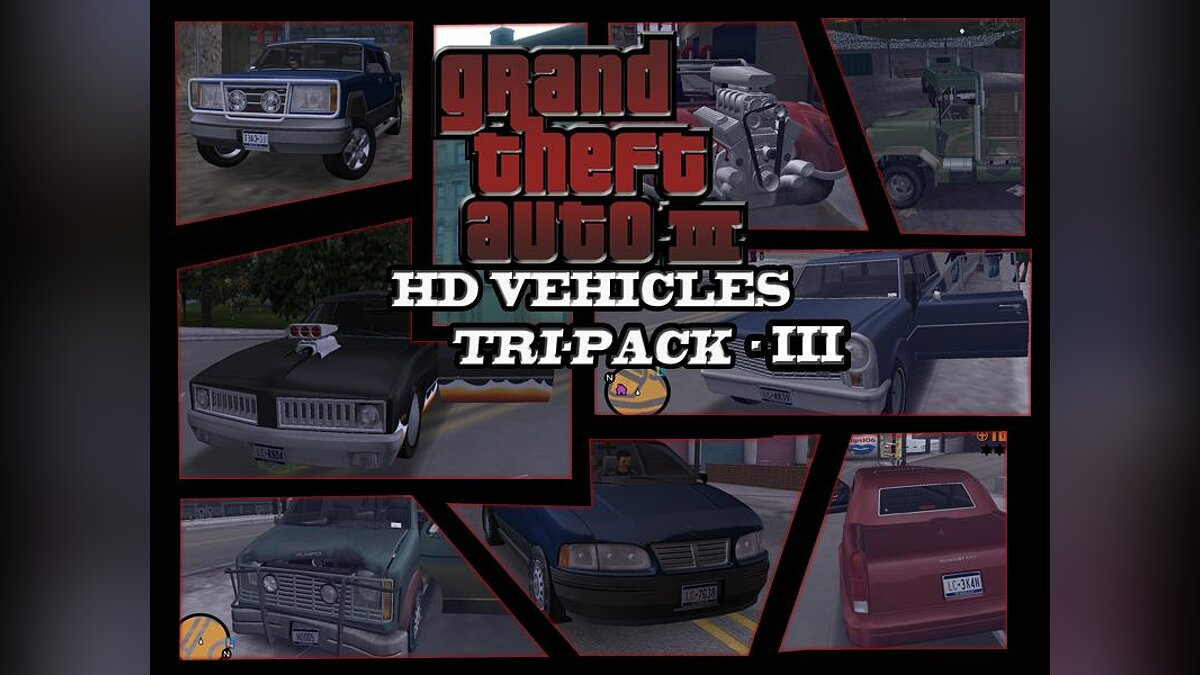 GTA3 HD Vehicles Tri-Pack III для GTA 3 - Картинка #1