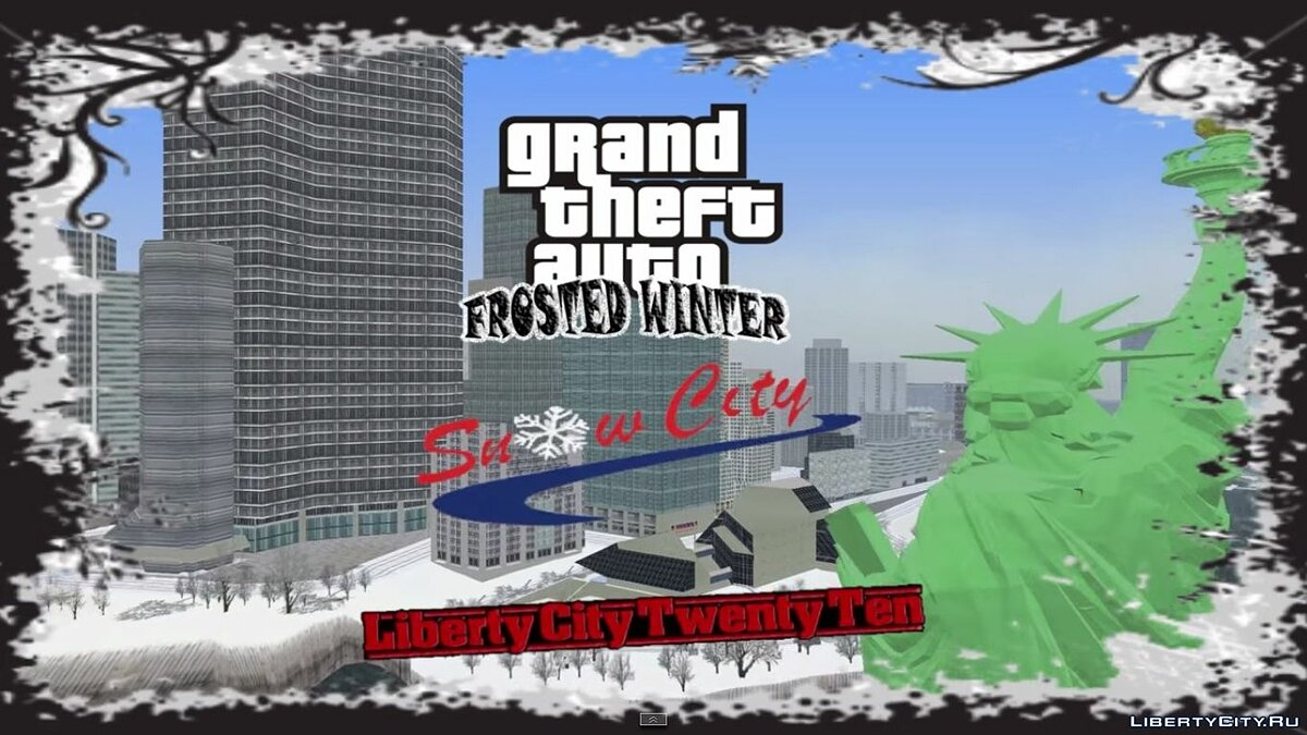 Gand Theft Auto 3 : Frosted Winter (Ultimate Winter Mod) для GTA 3