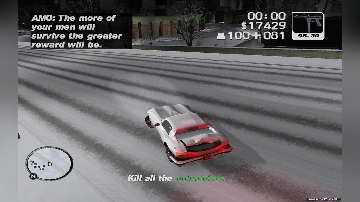 Gand Theft Auto 3 : Frosted Winter (Ultimate Winter Mod) для GTA 3 - скриншот #2