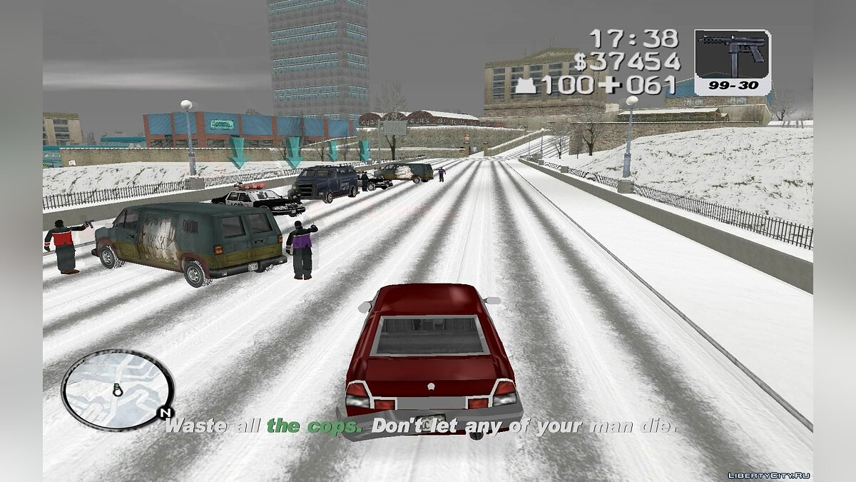 Gand Theft Auto 3 : Frosted Winter (Ultimate Winter Mod) для GTA 3 - скриншот #5