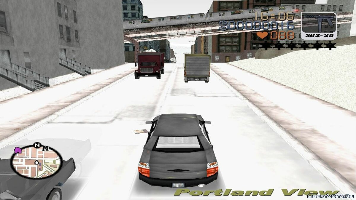 Grand Theft Auto 3 Frosted Winter для GTA 3 - скриншот #3