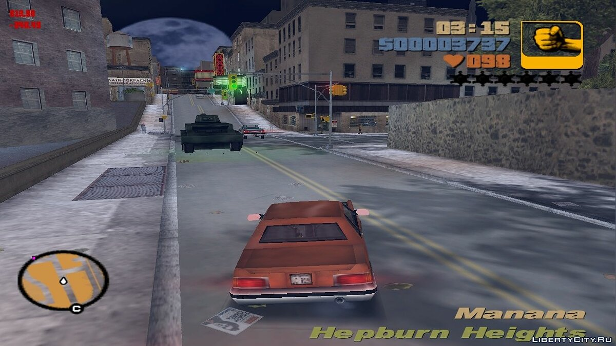 Большой мод Grand Theft Auto III Toughened для GTA 3