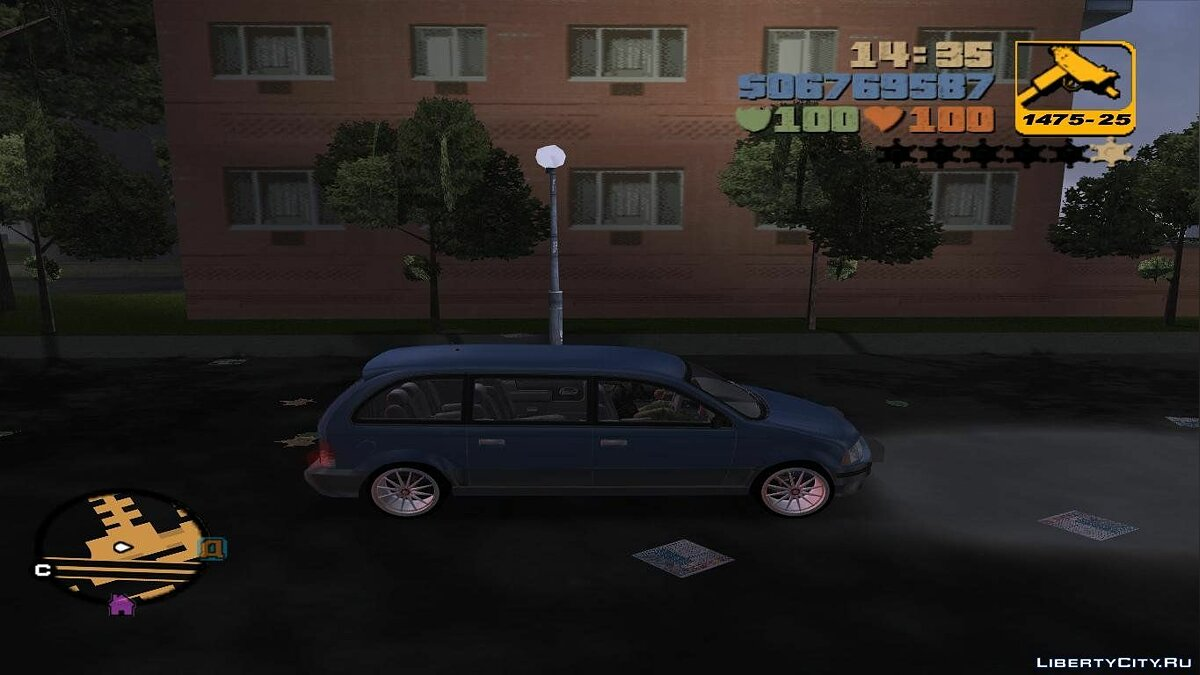 Текстура машины Argos 3D Wheels для GTA 3