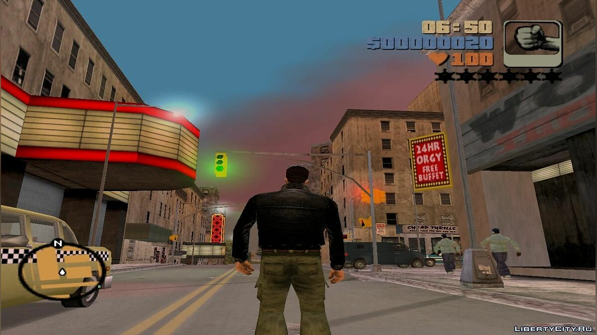Мод Grand Theft Auto III beta timecycle для GTA 3