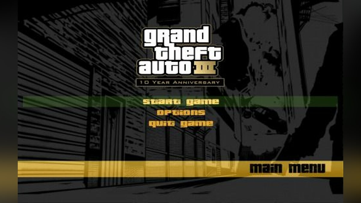 "GTA III ""10th Anniversary Menus"" для GTA 3 - Картинка #1"