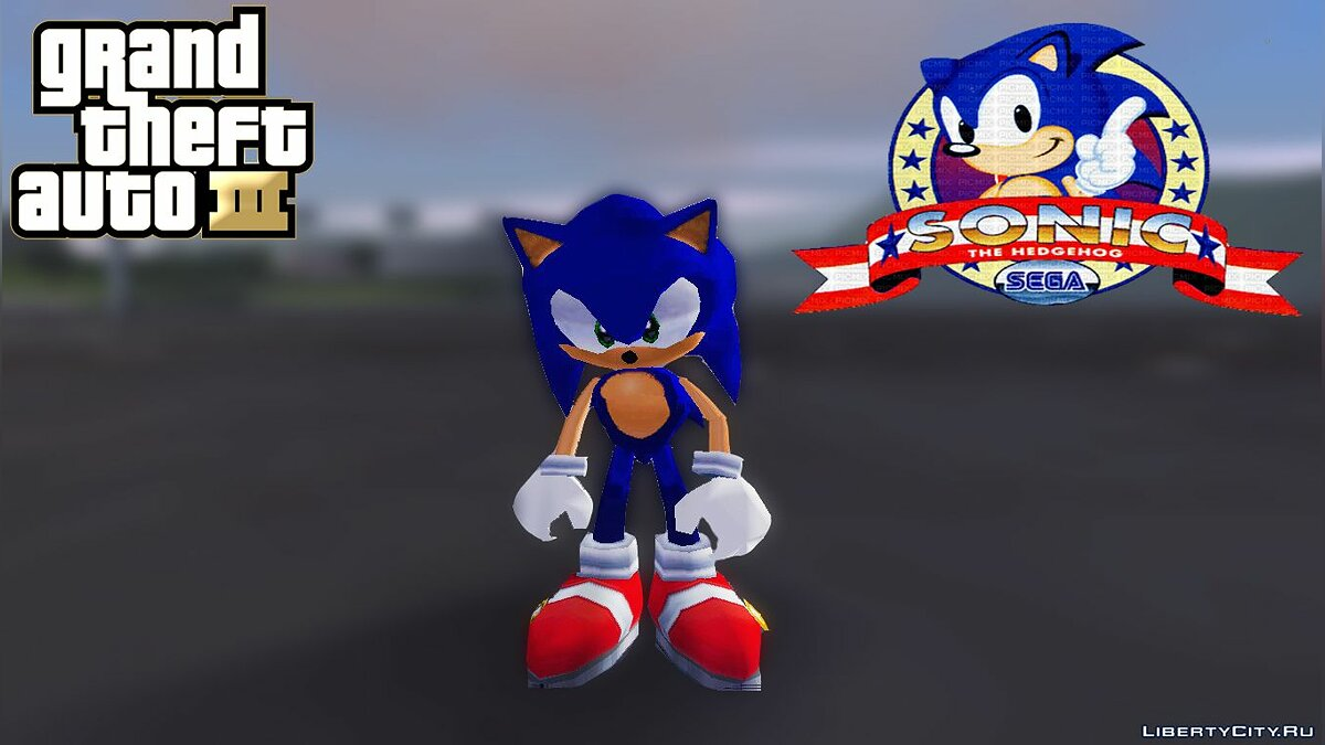 Мод Sonic the Hedgehog Mod для GTA 3
