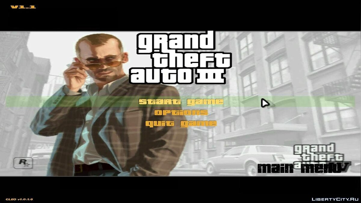 Мод GTA IV Menu and Splash to GTA 3 для GTA 3