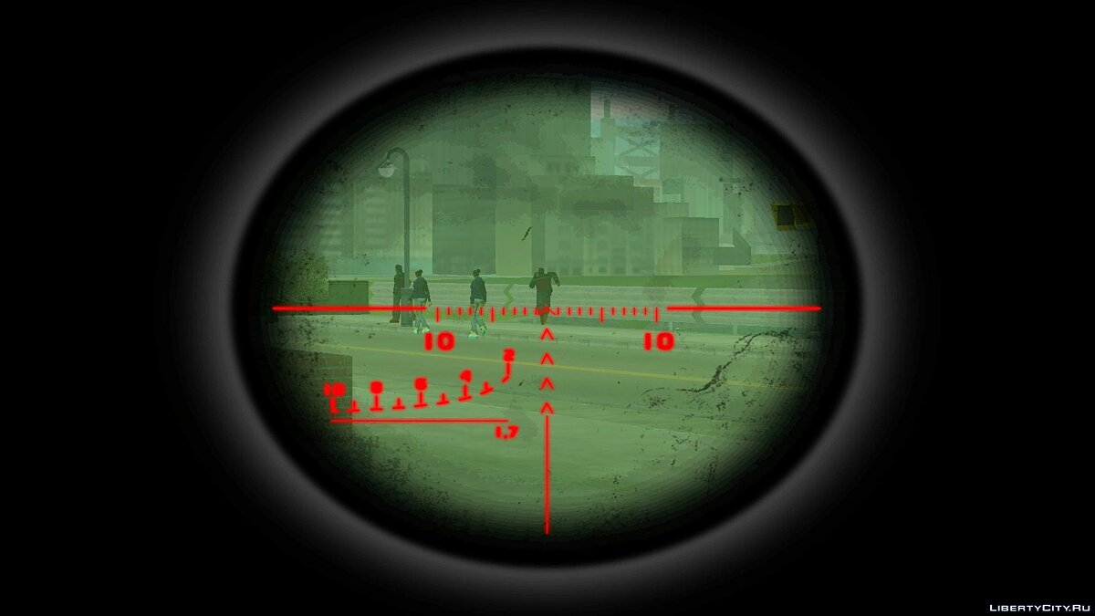 Custom Sniper Scope для GTA 3