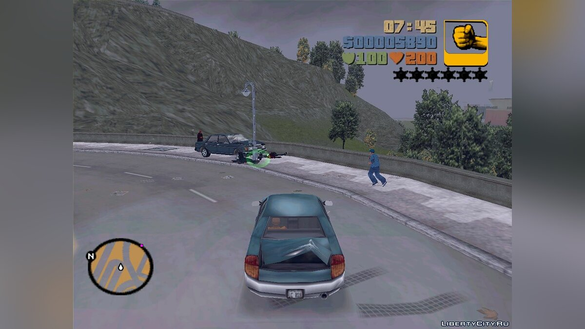 GTA 3 - VC Cars In Action для GTA 3 - скриншот #3