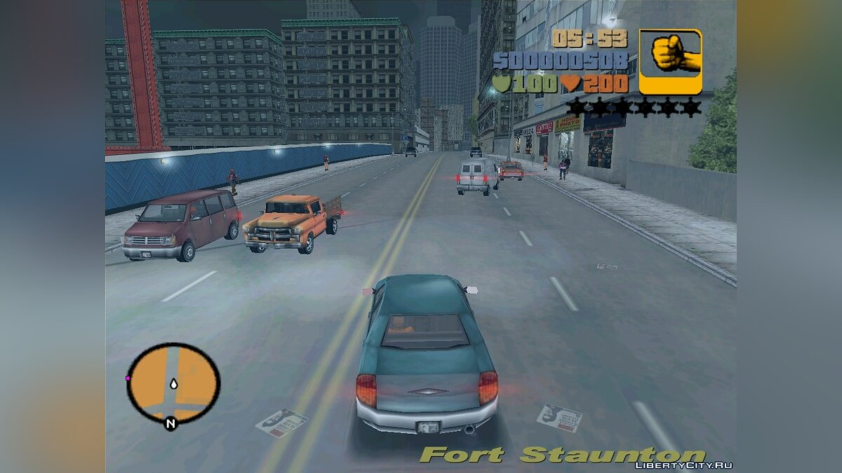 GTA 3 - VC Cars In Action для GTA 3 - скриншот #2