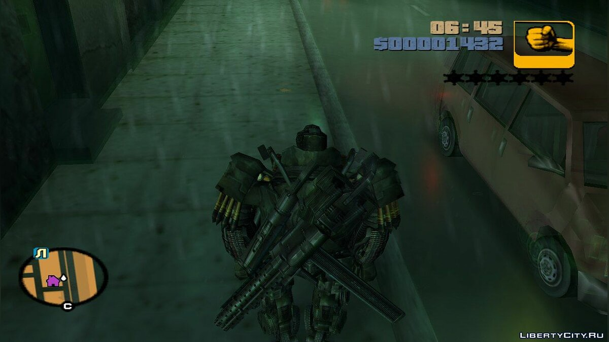 Новый персонаж Hound from Transformers: Age of Extinction для GTA 3