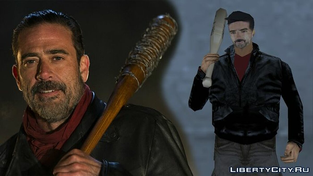 ��овый персонаж Negan (The Walking Dead) для GTA 3