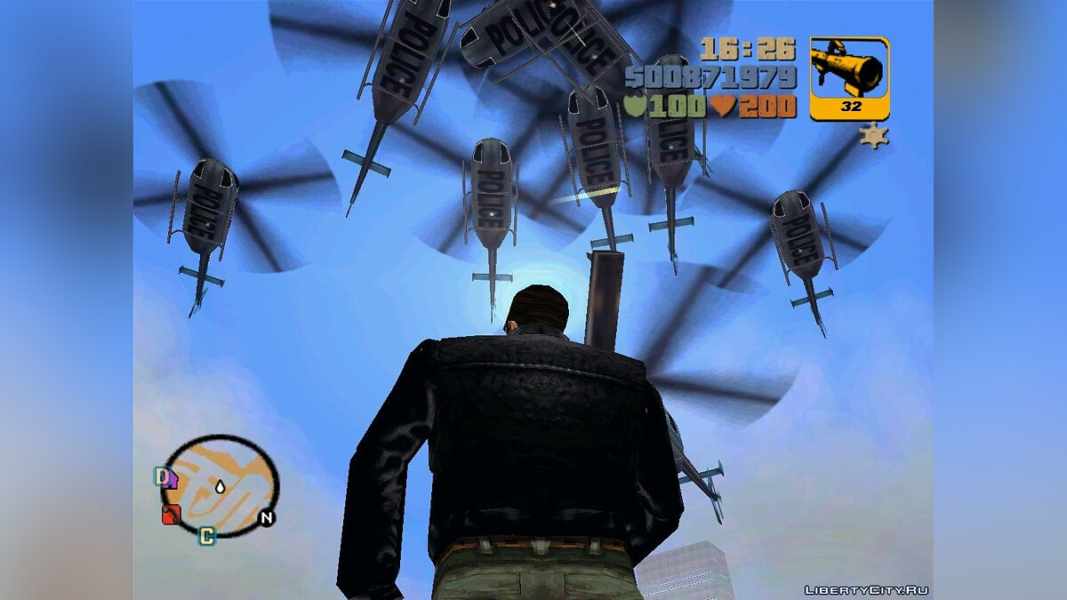 ��криптовый мод Wanted Level Editor (gta3) для GTA 3