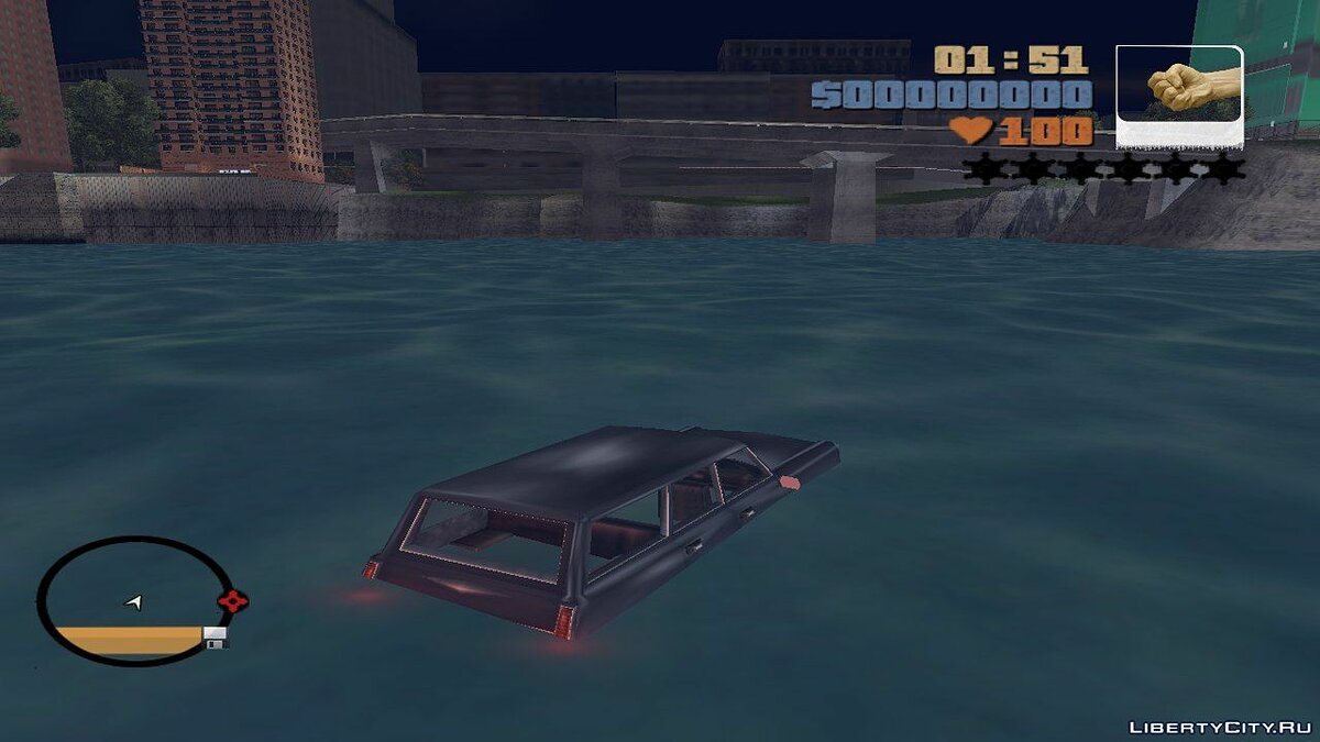 Flash & Car Swimming для GTA 3 - скриншот #2