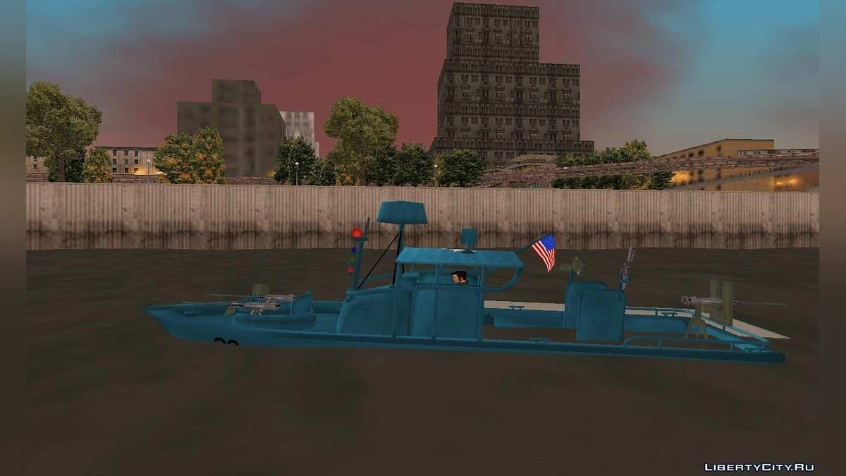 Лодка и катер Patrol Boat River Mark 2 для GTA 3