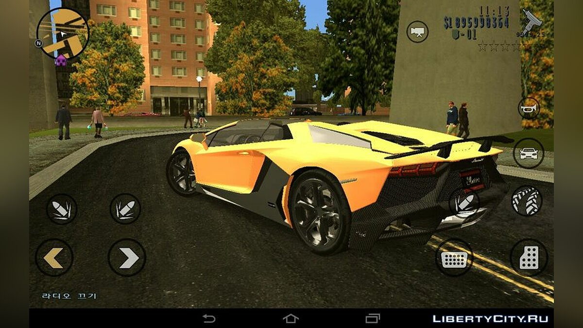 Машина Lamborghini Aventador 50th Roadster для GTA 3 (iOS, Android)