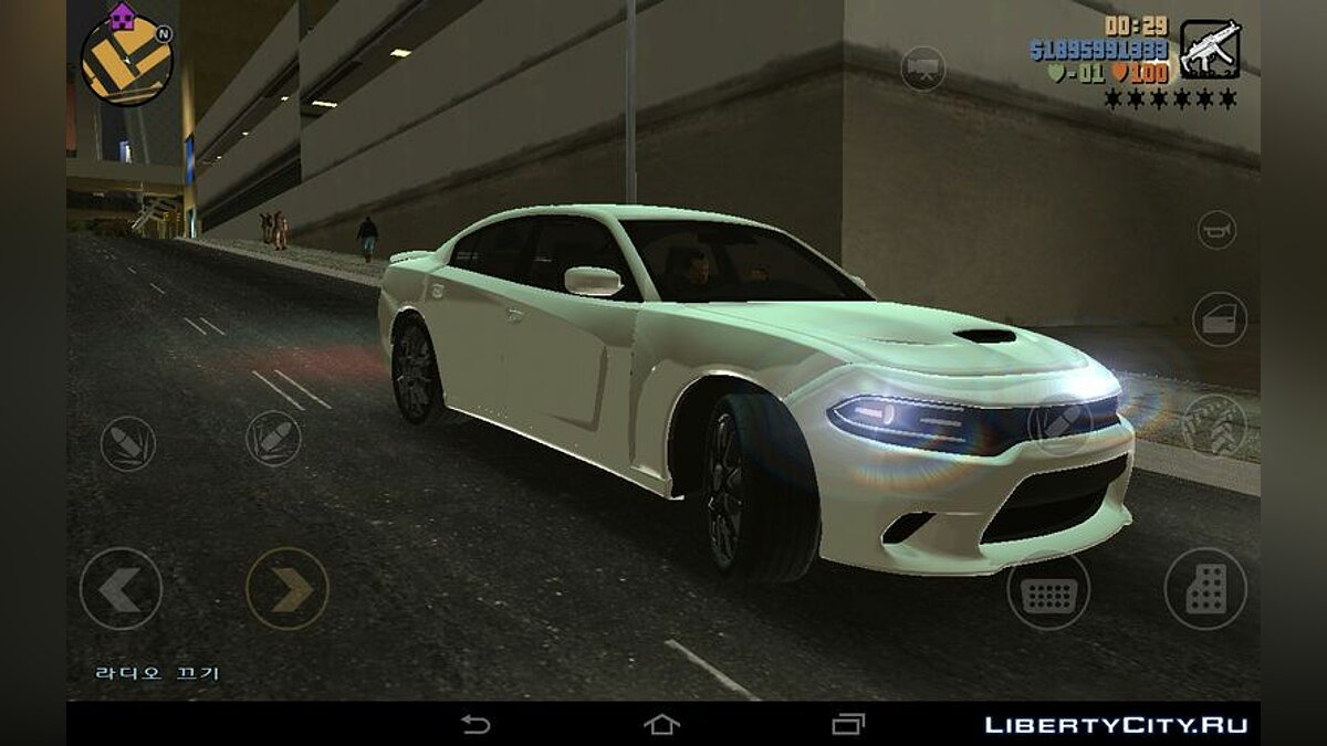 Машина 2015 Dodge Charger Hellcat для GTA 3 (iOS, Android)