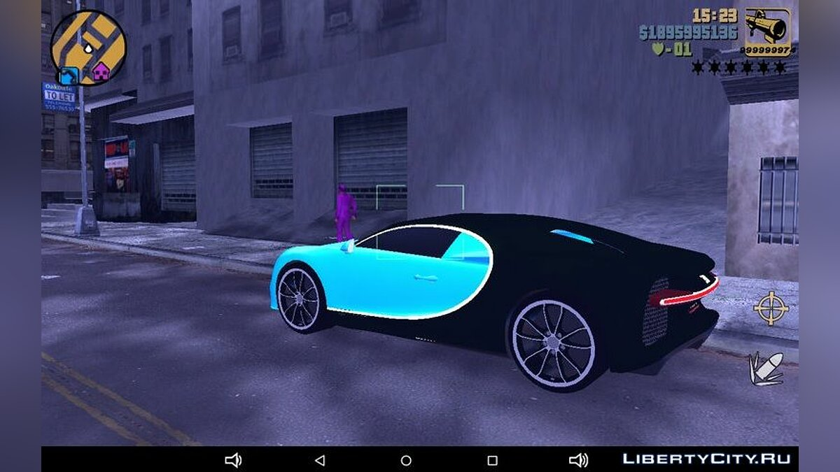 Машина 2016 Bugatti Chiron для GTA 3 (iOS, Android)