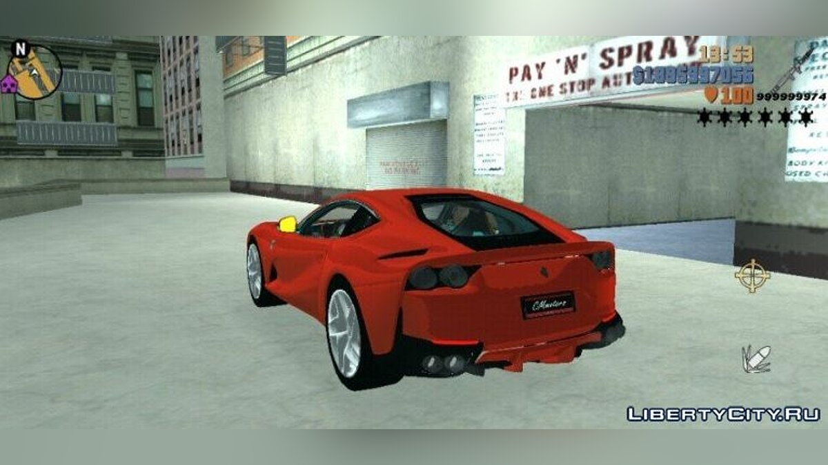 Машина Ferrari 812 SF для GTA 3 (iOS, Android)
