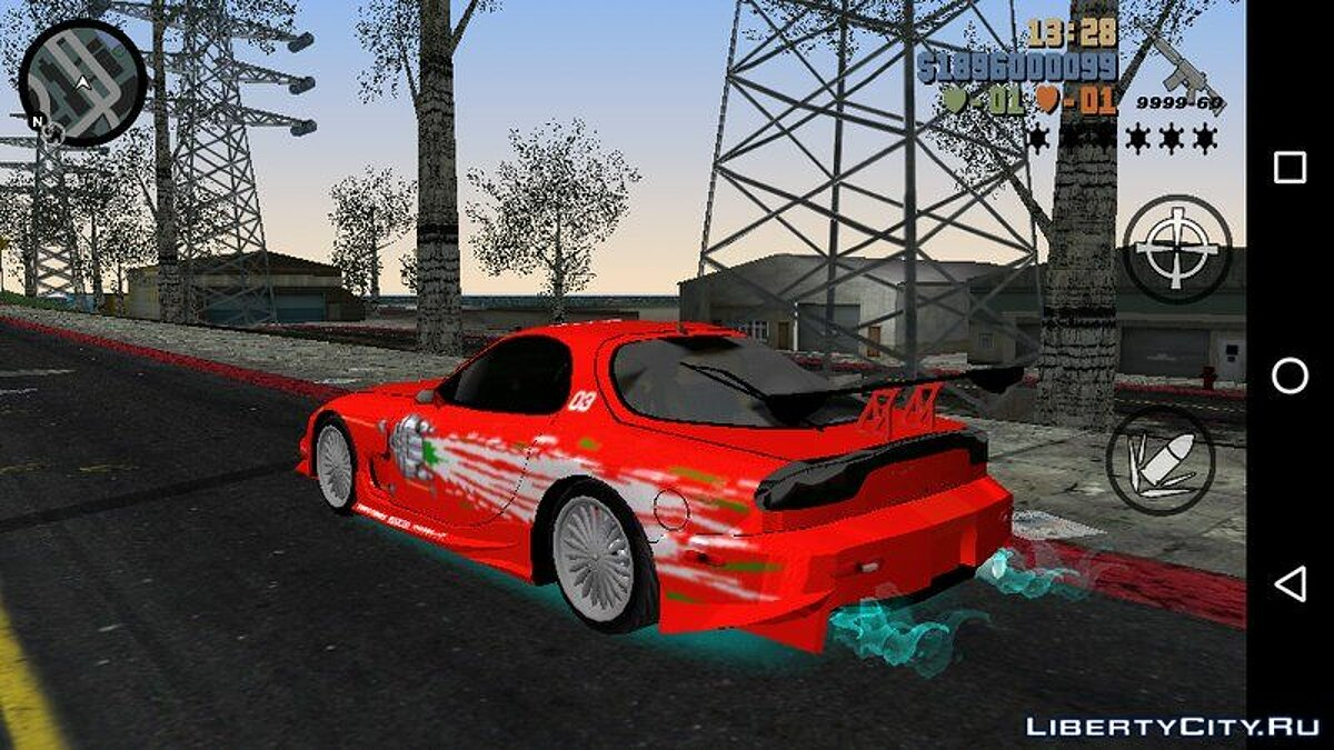 Машина MAZDA RX7 FNF для GTA 3 (iOS, Android)