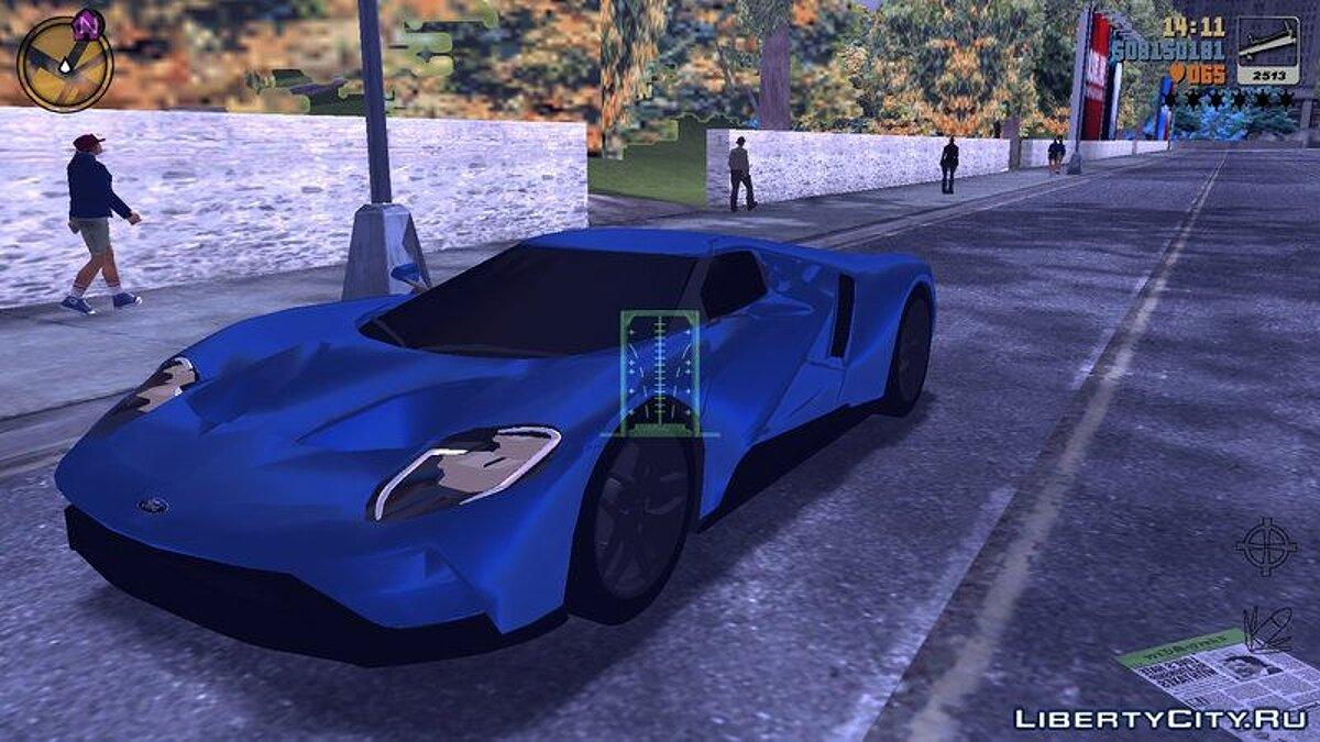 Машина Ford GT 2017 для GTA 3 (iOS, Android)