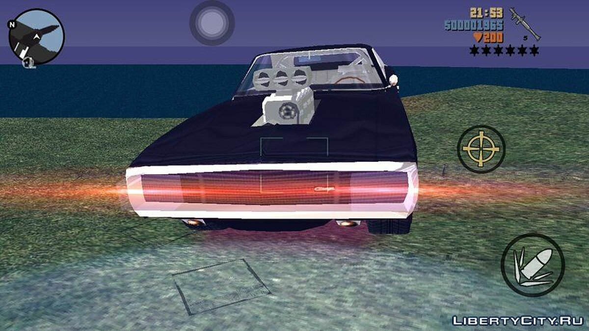 Машина Fast And Furious 70 Charger для GTA 3 (iOS, Android)