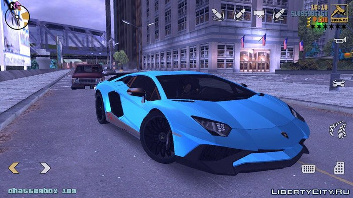 Lamborghini Aventador SV V2 для GTA 3 (iOS, Android)