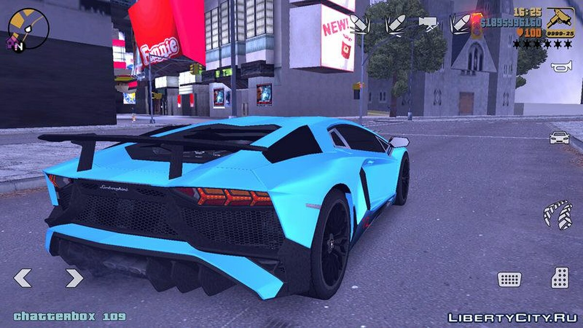 Lamborghini Aventador SV V2 для GTA 3 (iOS, Android) - скриншот #2