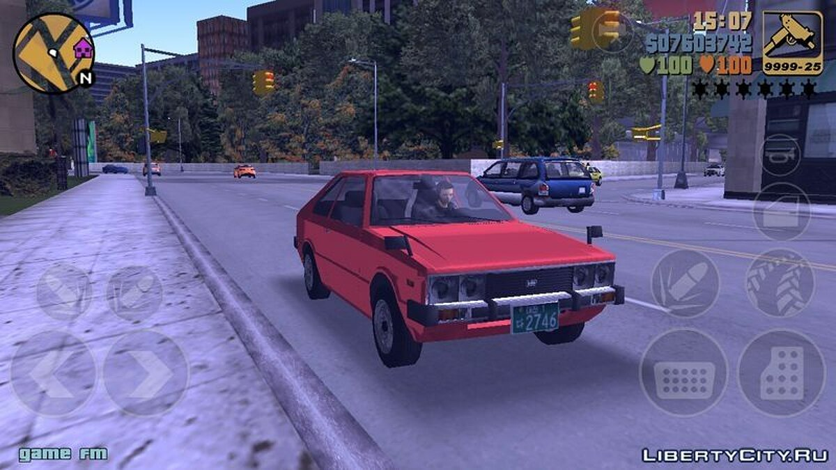Машина 1974 Hyundai Pony для GTA 3 (iOS, Android)