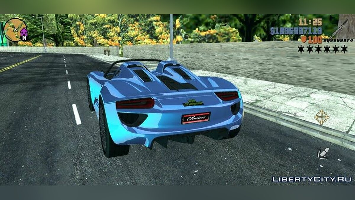 Машина Porsche 918 Spyder для GTA 3 (iOS, Android)