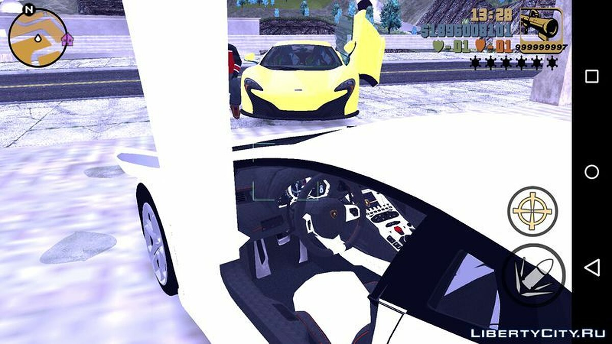 Машина Lamborghini Aventador LP 700-4 для GTA 3 (iOS, Android)
